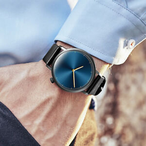 2019-Herren-Fashion-Dress-Casual-Uhr-Classic-Quarz-Edelstahl-Armbanduhr