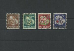 Germany-GDR-vintage-yearset-1951-Mi-289-292-Postmarked-Used-More-Sh-Shop-2