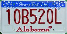 Alabama License Plate,  Original Kennzeichen  USA  10B520L  ORIGINALBILD