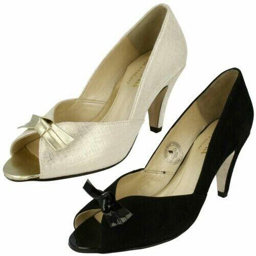 Ladies van  dal Formal Open Toe Heels Bow Trim 'Heydon  vendita economica