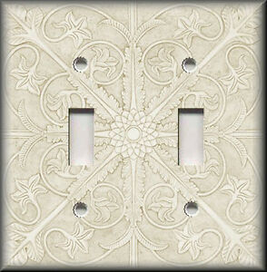 Image Is Loading Metal Light Switch Plate Cover Tuscan Tile Pattern