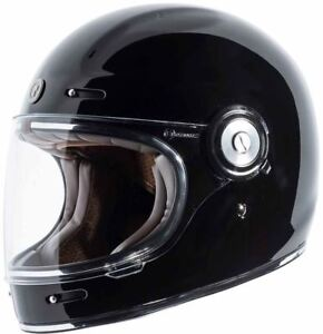 Torc T1 Helmet Gloss Black Retro Vintage Style Full Face DOT XS-2XL