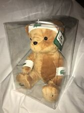 "NWT Lacoste Parfumes Teddy Bear Plush Stuffed Headband Wrist Bands Camel 12"" #1"