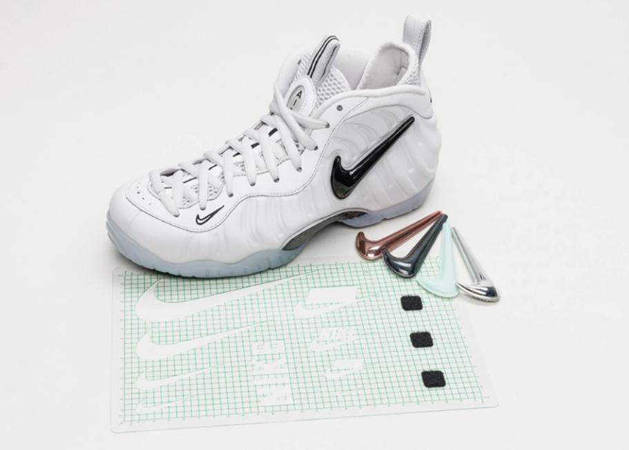 2018 Nike Air Star Foamposite Pro como All Star Air QS gris blanco cómodo Wild Casual Shoes 7bc4f6