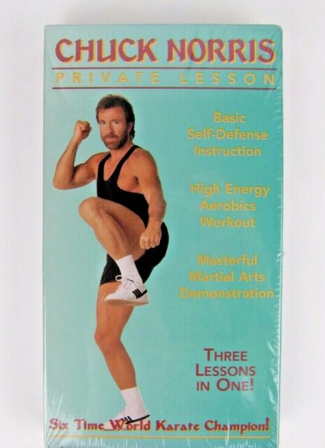 Rare Chuck Norris Private Lesson Three Lessons In One Vhs Cassette Tape Sealed For Sale Online