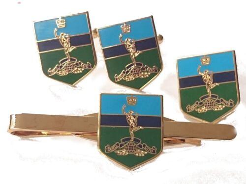 Clip de Corbata Militar Escudo Conjunto de Regalo Insignia Royal Corps De Señales Gemelos
