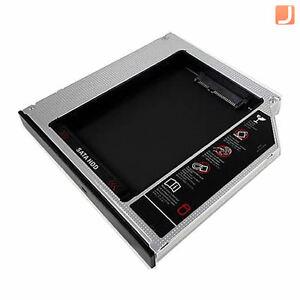 2nd-DISCO-fisso-HDD-SSD-Bay-Caddy-12-7MM-SATA-UNIVERSALE-CD-DVD-ROM-OTTICA-Bay-UK