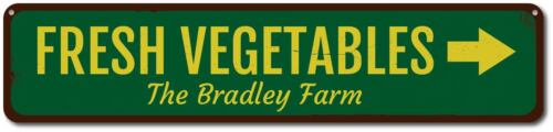 Personalized Arrow Family Farm Sign ENSA1001762 Fresh Vegetables Sign