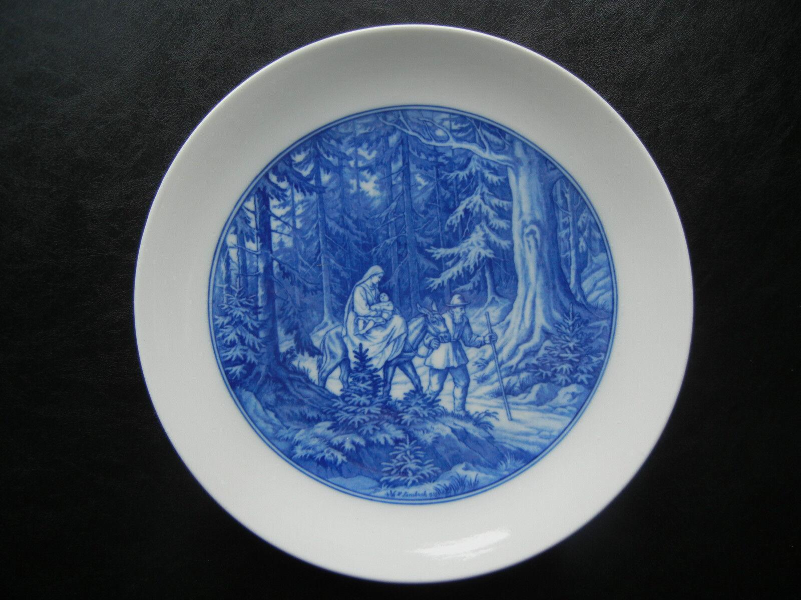 Meissen platos de parouge 1939 Sagrada Familia En La huída Al. Limbach (Mi nr. 4)