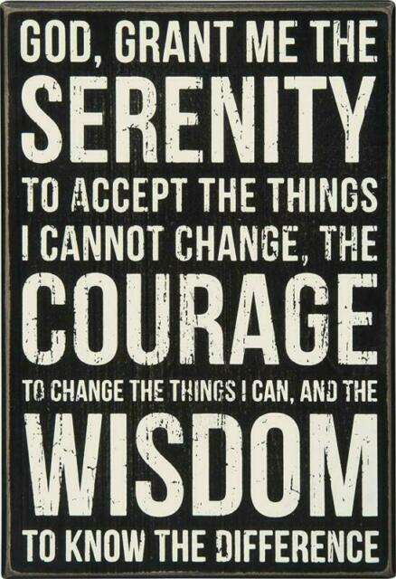 Primitives by Kathy Serenity Prayer Box Sign