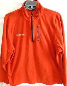 Under-Armour-Mens-Pullover-Fleece-Sweatshirt-2XL-XXL-1-4-Zip-Red-Loose-Fit