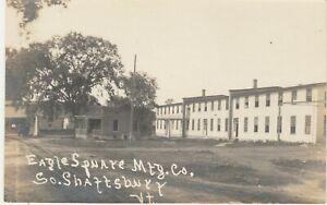 South Shaftsbury VT -- RPPC -- Eagle Square Mfg. Co. -- Circa 1918 -- Postcard