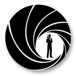 Lot Pack Badge Button Ø25mm Logo James Bond 007 Cinema Movie