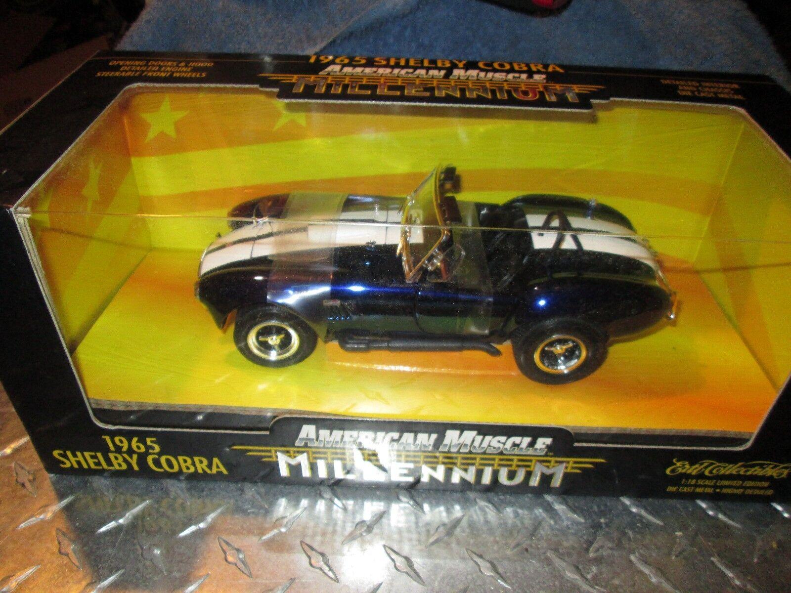 1965 Shelby Cobra Roadster Milenio American Muscle 1 18 blu Cromo Chase limitada