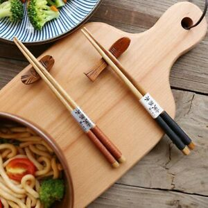 1-Pairs-Handmade-Japanese-Natural-Chestnut-Wood-Chopsticks-Set-Value-Gift-B
