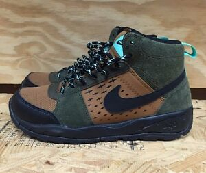 uk availability 41162 ff20a Image is loading NIKE-ACG-ALDER-MID-GS-DARK-LODEN-BLACK-