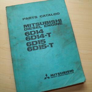 Details about Mitsubishi 6D14 6D15-T Diesel Engine Parts Manual book  catalog excavator List