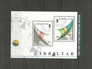 GIBRALTAR-1992-Sailing-Whitbread-around-the-World-MUH-MINIATURE-SHEET