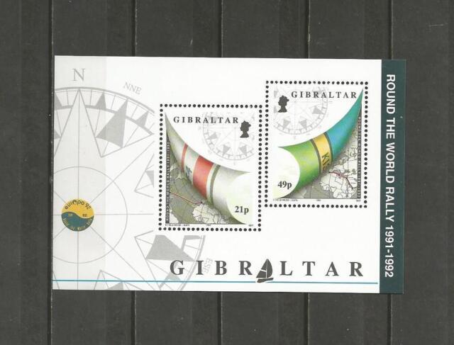 GIBRALTAR -1992 Sailing - Whitbread around the World  - MUH MINIATURE SHEET.
