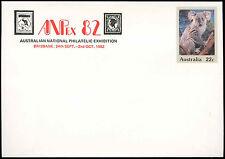Australia 22c Koala Optd Anpex 82 Pre-Paid Envolope Cover Unused #C18710