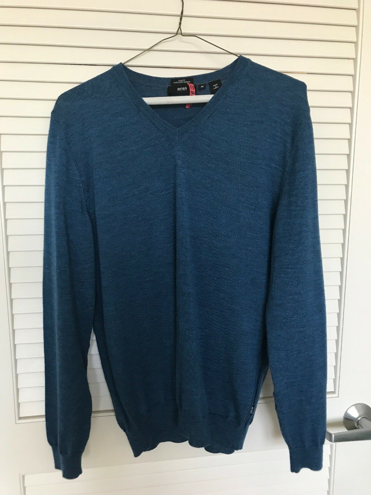 Hugo Boss Men's Size M Dark bluee Sweater Slim Fit Standard Style