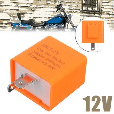 Motorcycle Turn Signal Indicator 12V 2Pin Speed Adjustable LED Flasher Relay UK