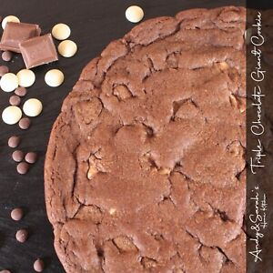 10-Giant-Cookie-Triple-Chocolate-Flavour-Free-Personalising-amp-Delivery