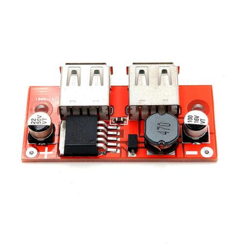 DC 7-40V zu 5V 3A Step Down Netzteil Wandler Konverter USB Ladegerät LM2596