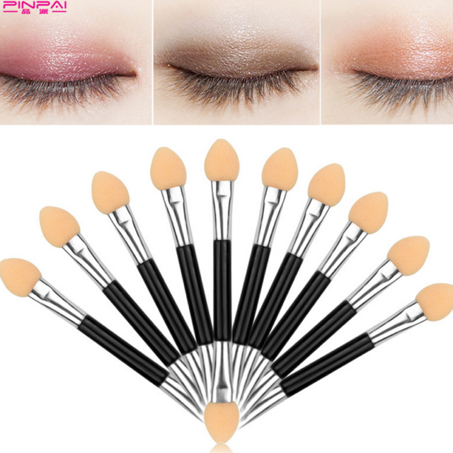 10pcs Double Ended Disposable Eyeshadow Sponge Applicators Brushes