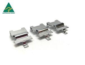Holden-TORANA-LC-LJ-LH-LX-UC-CHROME-Bonnet-Cable-Retainers-NEW-pn37