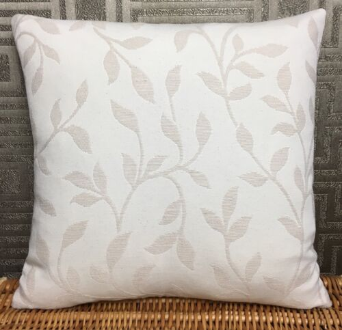 """John Lewis Leaf Trail Fabric Cushion Cover 14x14"""" Natural Double Sided."""