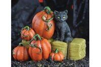 Miniature Cat On A Hay Bale Go 17318 Fairy Faerie Gnome Hobbit Garden