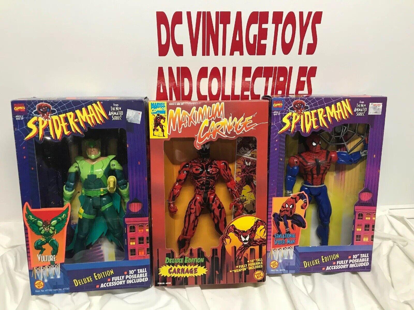 Marvel Comics SPIDERhomme Animated Series VULTURE voitureNAGE  1996 Toy Biz Lot-3  sports chauds