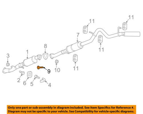 GM OEM Exhaust System-Muffler W//tpipe Stud 15756879