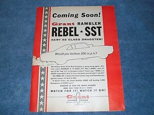 1967 grant piston rings vintage ad coming soon rambler rebel sst image is loading 1967 grant piston rings vintage ad 034 coming sciox Images