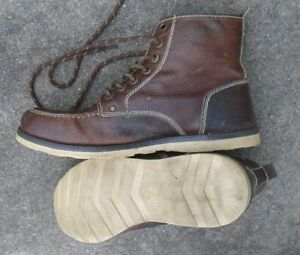 1ebd8541b37 Details about Mem's Crevo buck caramel leather winter shoes boots size 10  1/2