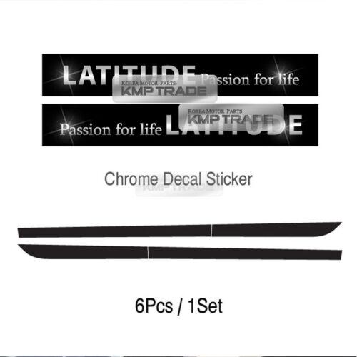 Side Line Door Protector Decal Sticker Chrome Logo For KIA 2010-2014 Sorento R