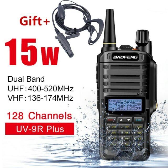Baofeng UV-9R Plus Walkie Talkie 15W VHF UHF Dual Band Handheld Two Way Radio