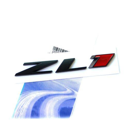 1x OEM ZL1 emblem badge Rear Side Door for Camaro L Genuine Black Red