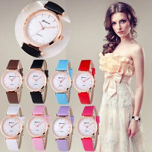 Fashion-women-039-s-watch-femme-Geneva-luxe-analogique-cuir-quartz-bracelet-montres