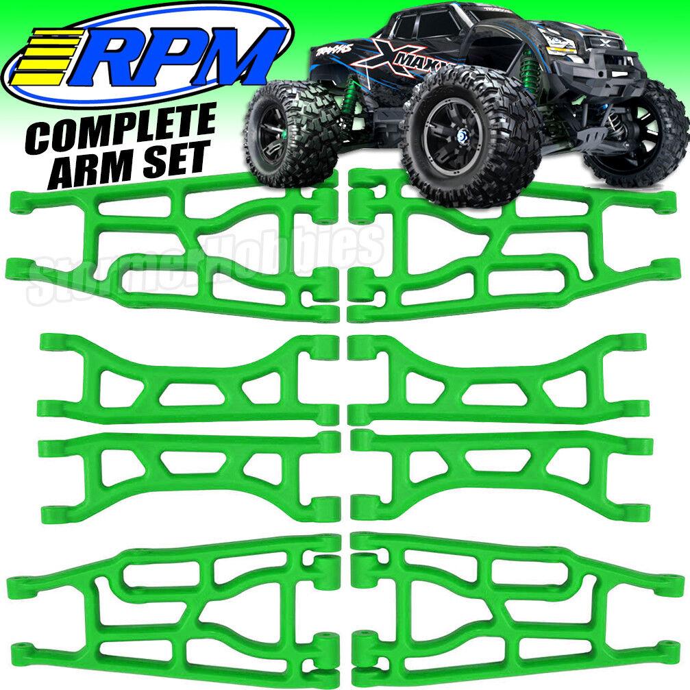 Maxx Verde RPM Traxxas X Brazos de suspensión, Parte Delantera-Trasera Inferior, Superior-Juego Completo 8