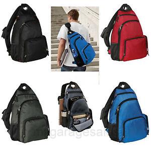 Single Sling Pad Shoulder Backpack Book Bag College School Travel ...