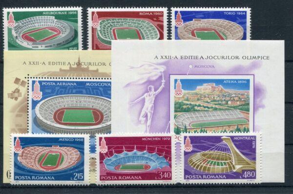 Roumanie 3625/30 Bloc 161/62 Cachet/jeux Olympiques... 1/1530-.......1/1530