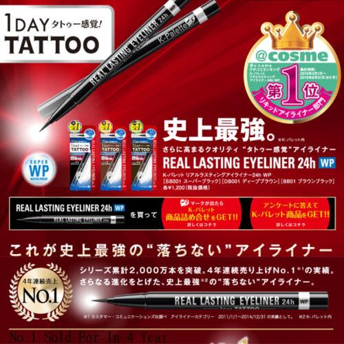 1 of 1 - F161 Japan K-Palette 1 Day TATOO REAL LASTING LIQUID EYELINER WATERPROOF