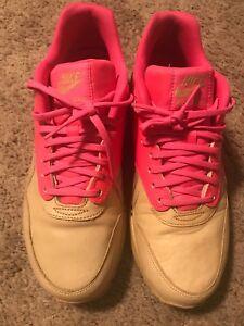 Details about Nike Women's Air Max 1 VT QS Size 9 DS 2013 Vachetta TanPink Flash 615868 202