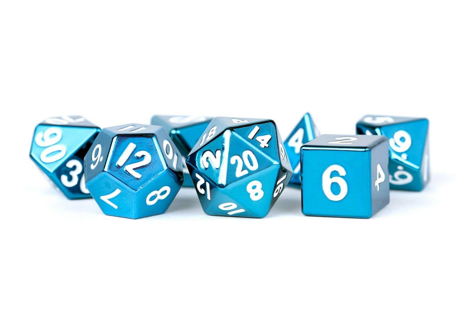 Metal bluee 16mm Polyhedral Dice Set
