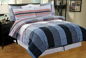 Micheal-8-PC-Twin-Full-Queen-King-Bed-Comforter-Set-w-Sheets-amp-Pillowcases