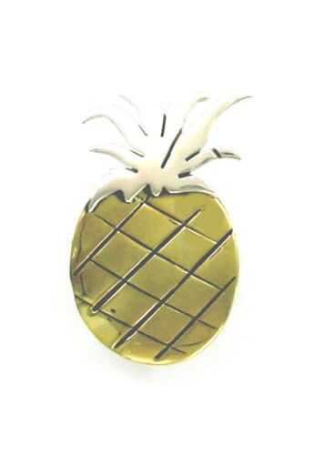 """FAR FETCHED Sterling Silver /& Brass /""""Sweet Pineapple/"""" Pin"""