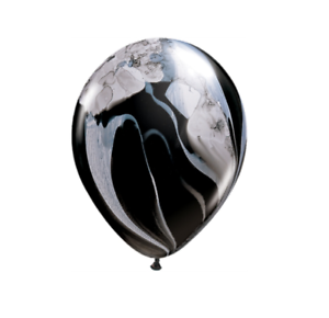 Black /& White SuperAgate 11/'/' Latex Balloons Pack of 5 10 or 25