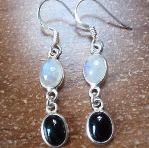 Tiger Eye and Moonstone 925 Sterling Silver Stud Earrings Corona Sun Jewelry